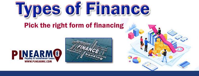 types of finance Plnearme